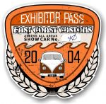 Aged Vintage 2004 Dated Car Show Exhibitor Pass Design Vinyl Car sticker decal  89x87mm